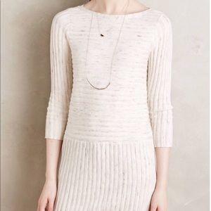 Anthropologie Moth Cream Sweater Dress Sz XXS